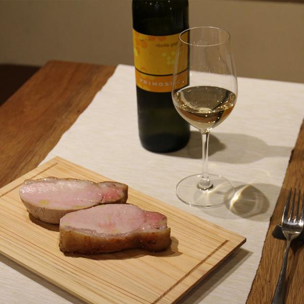 所沢市の新所沢のワインのペアリングとこだわりの食材のイタリアンレストランの埼玉県産日高市の柳田ファームの豚肉のソテーの画像
