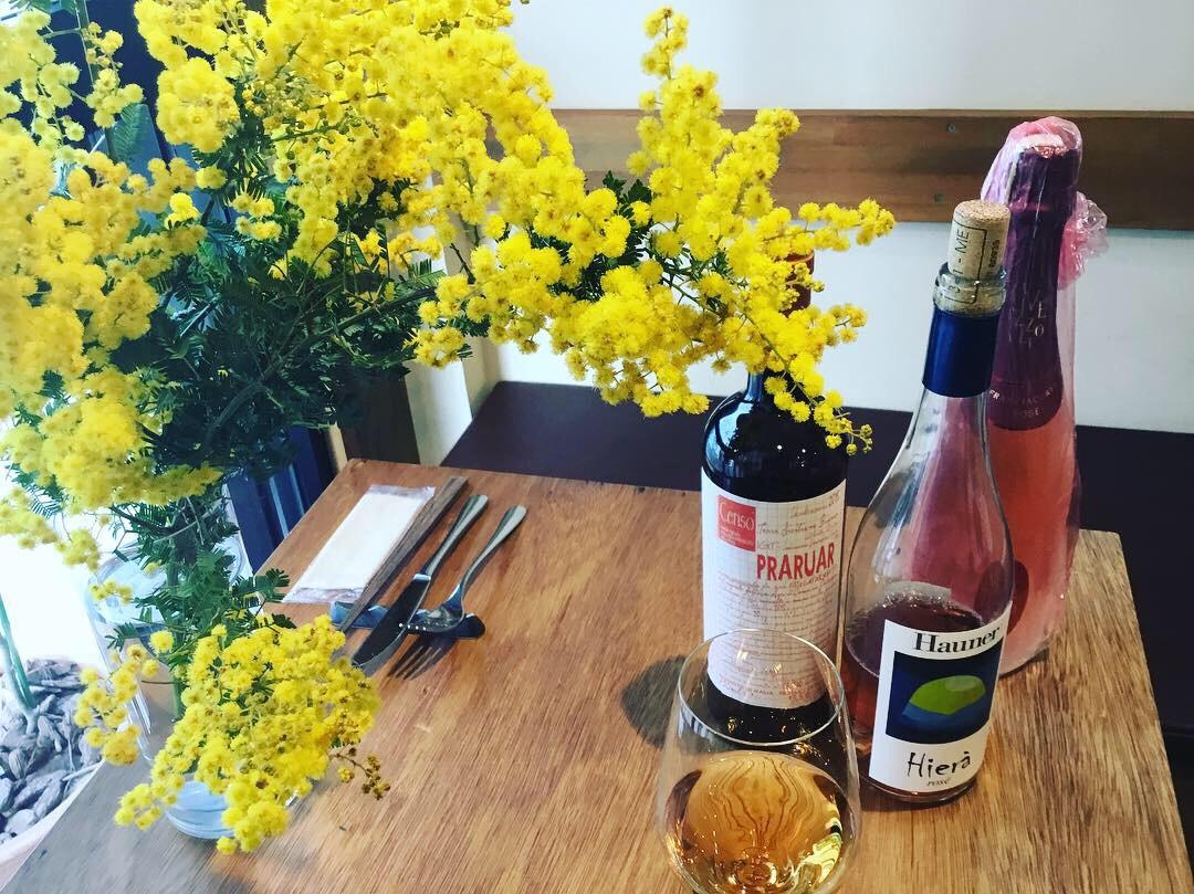 フェスタ・デッラ・ドンナのfestadelladonnaのミモザの花の春ワインのロゼワインのオレンジワインのグラスワインのトロンコーネの新所沢イタリアンの所沢レストランのワインのおいしい店のグラスワイン充実のtroncone