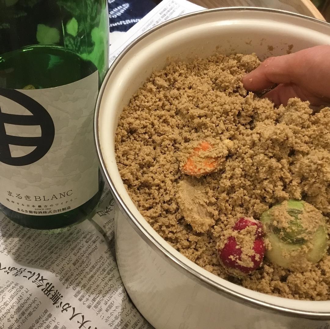 糠床作りのトロンコーネのtronconeの糠漬けのワインのあての自然な食の無農薬野菜の自然派の所沢のヘルシーのベジタブルの発酵食品のおいしい